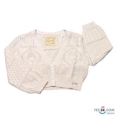 Áo khoác bé gái màu trắng ngà - J32R4500Z-D12